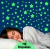 Kit de Etiquetas Fluorescentes Estrelas (Brilham no Escuro)